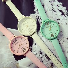 Candy Colored Quartz Wristwatches