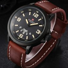 Casual Men's Leather Band Wristwatches