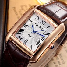Men's Elegant Rectangular Case Wristwatches