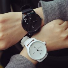 Lover's Black and White Wristwatches