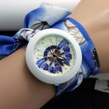 Flower Cloth Bracelet Wristwatches