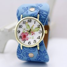 Printed Leather Bracelet Wristwatches