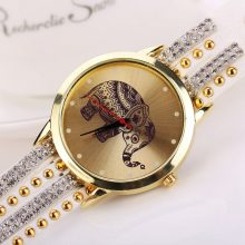 Elephant Pattern Bracelet Watches